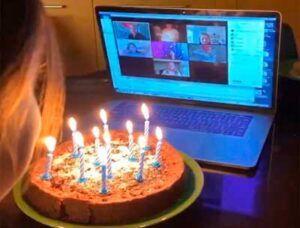 Fiesta virtual de cumpleaños