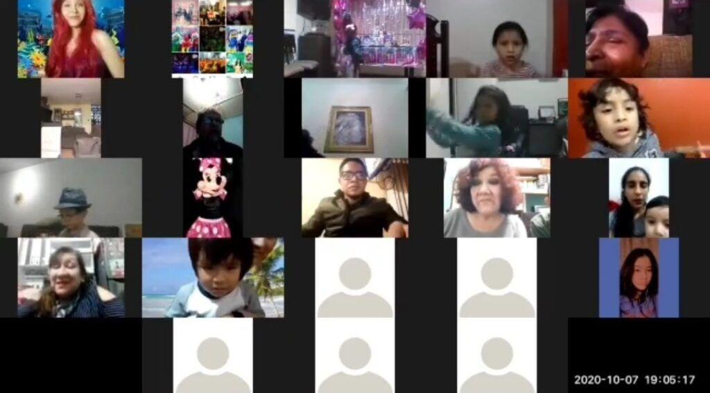 Show infantil online Zoom